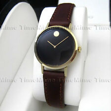 Women's Movado MUSEUM CLASSIC Manual Wind Dome Crystal Black Dial Swiss Watch