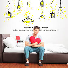 Huge Unique Home Decor Wall Sticker Decal Lamp Chandelier Stars Mural Vinyl Art