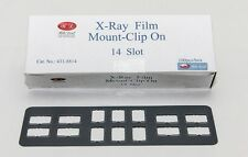 DENTAL CHILD X-RAY FILM PLASTIC MOUNT FRAMES - CLIP ON 14 SLOT 100PC/BOX