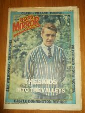 RECORD MIRROR AUGUST 23 1980 THE SKIDS VILLAGE PEOPLE CLASH POLICE UFO JAM