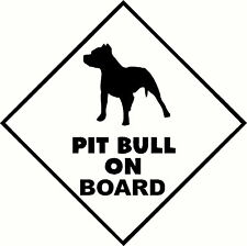 Pit Bull On Board for Wall Car Sign letter quote bumper sticker graphic