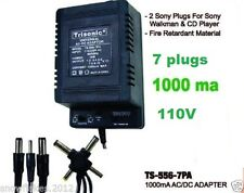 Universal AC/DC power adapter Output 1.5/3/4.5/6/7.5/9/12 1000ma 2 sony plugs