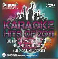 Mr Entertainer Karaoke 100 MP3+G Tracks - Chart Hits of 2011 MKH11 MP3G