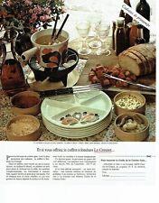 PUBLICITE ADVERTISING 0217  1978  Le Creuset  le coffret à fondue