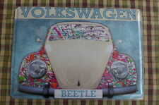 VW Beetle Car Tin Metal Sign Painted Poster Wall Art Office Garage Hobby Colect