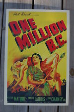 One Million B.C. Lobby Card Movie Poster Victor Mature
