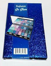 PROFUSION GO GLAM 24 Powder Shimmer Eyeshadows   Dual End App.Mirror BLUE Case