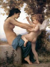 WILLIAM ADOLPHE BOUGUEREAU YOUNG GIRL DEFENDING AGAINST EROS POSTER 3106OMLV