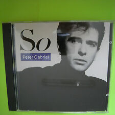 "Peter Gabriel CD ""SO"" 1.Edition 1986 USA Japan made GEFFEN 9240882 100% PERFECT"