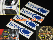 "4x 3""7.6cm Type C decal sticker JDM SSR alloy wheel rim spoke typeC RS speedstar"