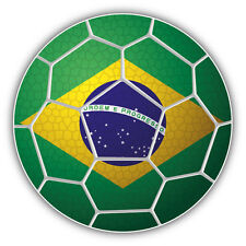 Brazil Soccer Ball Flag Car Bumper Sticker Decal 5'' x 5''