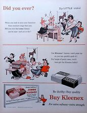 Little Lulu Kleenex color ad from 1954 w/ Marge art - Little Lulu and Tubby