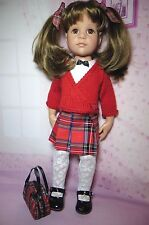 PIXIES HAND MADE:5 piece OUTFIT FITS 18 INCH DOLL like GOTZ HANNAH/DESIGNAFRIEND