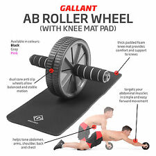 Gallant Ab Wheel Roller Abs Exercise Abdominal Trainer Fitness Ladies Men Toning
