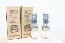Platium Matched 1 Pair Electro Harmonix 300B tubes,Gold Grid,NEW