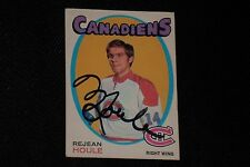 REJEAN HOULE 1971-72 O-PEE-CHEE ROOKIE SIGNED AUTOGRAPHED CARD #147 CANADIENS