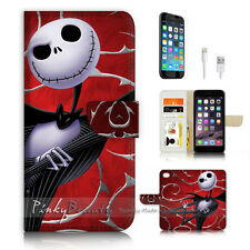 iPhone 7 (4.7') Flip Wallet Case Cover P3176 Nightmare Christmas