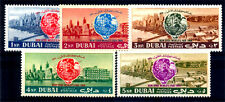 DUBAI 1964-Set of 5-New York World's fair-Globe and Dubai Harbours S.G. 68-72