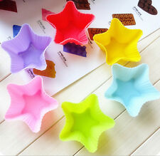 6Pcs  Food Grade Silicone Muffin Cup Cake Mold Chocolate Bakeware Baking Hot