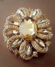 SPILLA DORATA 5,5CM - GOLDEN FLOWER BOUQUET BROOCH WEDDING PARTY PIN BROACH