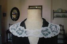 Antique Vintage French Cotton Lace Collars 1 pair.  Ecru