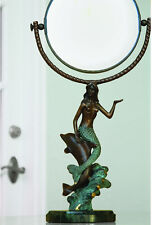 Mermaid and Dolphin Round Table Mirror- SPI Home/San Pacific International 30392