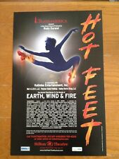 HOT FEET Broadway Window Card Poster EARTH WIND & FIRE [MINT]