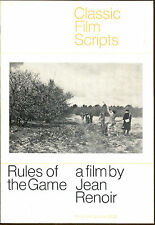 Rules of the Game: A Film by Jean Renoir-Classic Film Scripts-1st Printing-1970