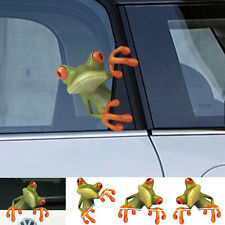 3D Green Peep Frog Funny Car Stickers Truck Window Vinyl Decal Graphics Sticker