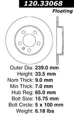 Disc Brake Rotor-High Performance Slotted Centric fits 00-06 Audi TT Quattro