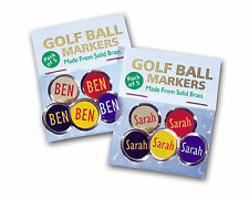 Golf Ball Markers Personalised - Great Golf Gift with any Name of your choice