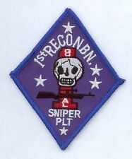 1st US Marine RECON Marines Sniper Platoon USMC Uniform Abzeichen patch