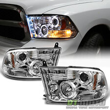 2009-2017 Dodge Ram Pickup Truck LED Halo Projector Headlights DRL Front Lamps