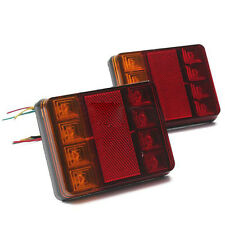2x LED Light Rear Board Lamps Tail BRAKE STOP INDICATOR LAMP Trailer Truck Hot