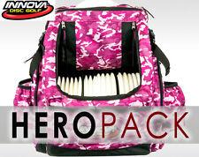 INNOVA HEROPACK BACK PACK BAG (HOLDS 25 DISCS) PINK-CAMO INCLUDES: CRDG HEADER