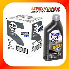 5w30 Mobil Super Fully Synthetic Motor Oil 6 Quarts in Case - New Stock!!