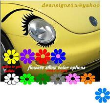 car eyeLASHes SET for oval headlight lower EYELASH BROW vw bug Conform Decal NEW