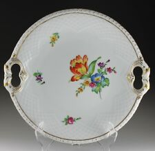 Bing & Grondahl Saxon Flower Open Dolphin Handled Cake Plate - Beautiful!