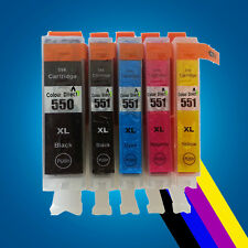 5 Chipped Ink Cartridge For PGI550 CLI551 Canon Pixma iP7250 MG5450 MG6350 MX925