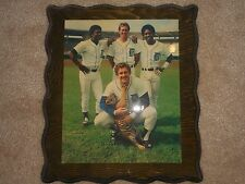 1984 DETROIT TIGERS WHITAKER TRAMMEL PARRISH POSING WITH TIGER CUB PHOTO PLAQUE