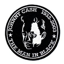 J.R. JOHNNY CASH Men in Black Singer Songwritter Music Embroidered Iron On Patch