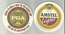 Lot Of 5 2004 Amstel Light Beer Coasters By Amstel USA Trip To PGA