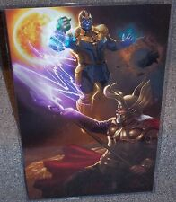 Thanos vs Odin Glossy Print 11 x 17 In Hard Plastic Sleeve