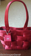 Small Red Harvey's Seatbelt Tote Bag Purse ~ Made in USA