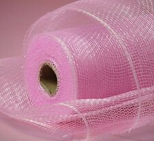 Light Pink Deco Poly Mesh 21 inch 10 Yards Solid color  NEW Wreath & Craft