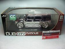 1/24 Hummer Chrom Chromed cromado + vitrina /original showcase - JADA - 3L 050