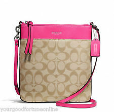 Coach Bag F50808 Swingpack Signature North South Swingpack Pink Ruby Agsb COD