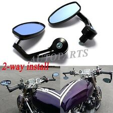 "BLACK MOTORCYCLE 7/8"" HANDLE BAR END REAR MIRRORS FOR DUCATI MONSTER SPORT BIKES"