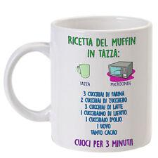 """Tazza """"Ricetta del muffin"""", come fare un muffin in tazza con il microonde!"""