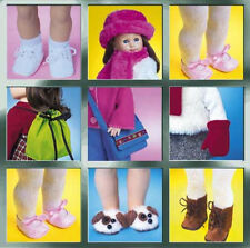 McCall's 3469 Doll Boots Shoes Slippers Sandals Mitts Bags Hat Scarf Sew Pattern